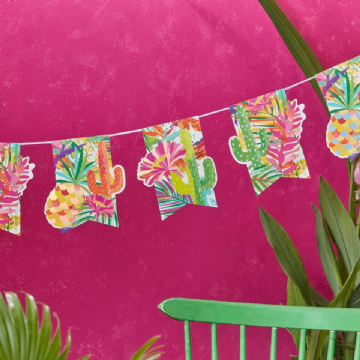 Tropical Hot Summer Cactus Bunting - 2.5M